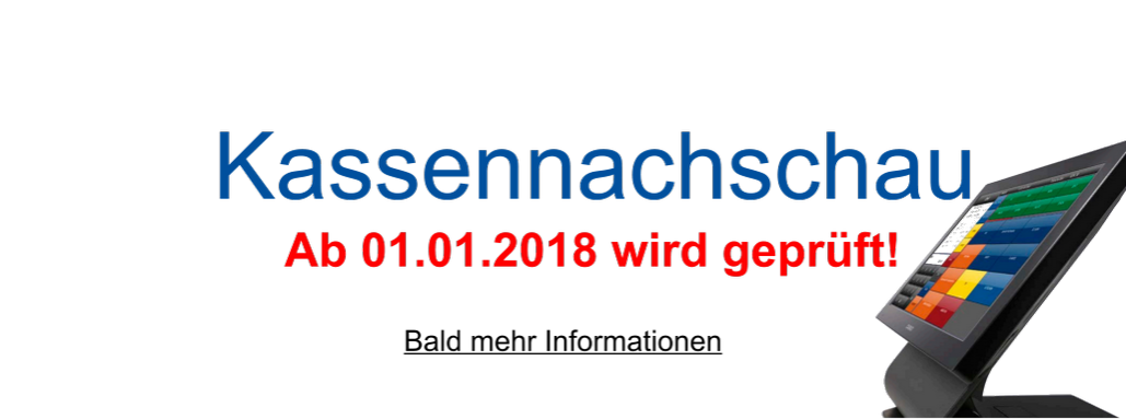 Kassennachschau ab 01.01.2018